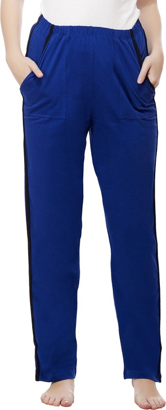 Peptrends Solid Women's Blue Track Pants