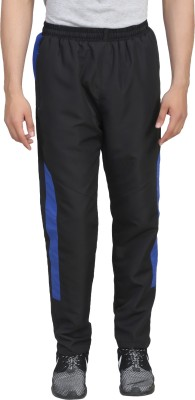 Trendy Trotters Solid Men's Black Track Pants