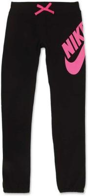 Nike Kids Graphic Print Girl's Black Track Pants