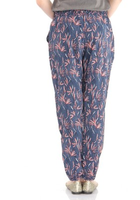 Pepe Jeans Printed Women,s Blue Track Pants