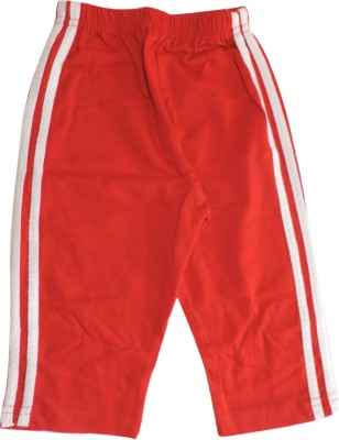 Ole Baby Sporty Vertical Striped Baby Boy's Red Track Pants