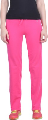 Dollar Missy Solid Women's Pink Track Pants at flipkart