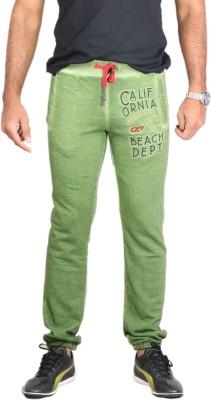 Showoff Solid Men's Green Track Pants