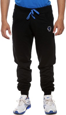Sports 52 Wear Solid Men's Black, Blue Track Pants