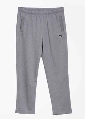 Puma Solid Mens Grey Track Pants
