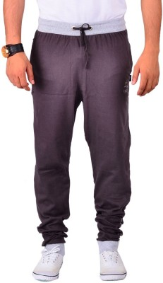 Vego Cotton Cuff Pant Solid Men's Brown Track Pants