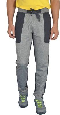 London Eye Self Design Men's Grey Track Pants