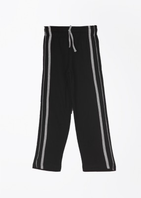 Day 2 Day Solid Boy's Black Track Pants
