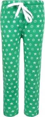 Sweet Angel Printed Boy's Green Track Pants