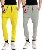 Brohood Bro Solid Men's Yellow, Grey Tra...