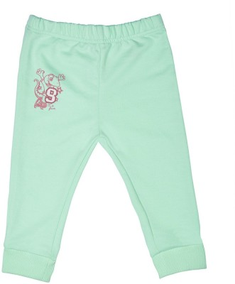 Wow Mom Solid Baby Boy,s Light Green Track Pants