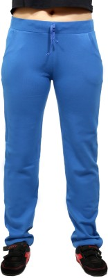 By The Way Solid Women's Blue Track Pants