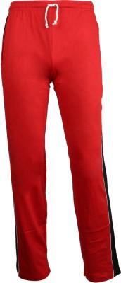 John Caballo Solid Men's Red, Black Track Pants