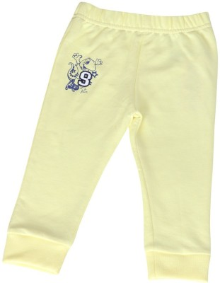 Wow Mom Solid Baby Boy,s Yellow Track Pants