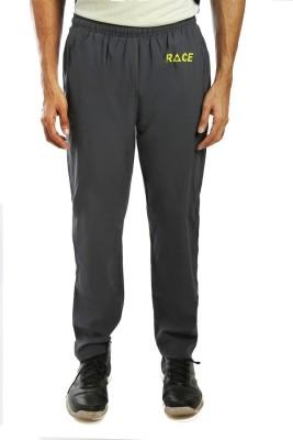 Anger Beast Solid Men,s Grey Track Pants