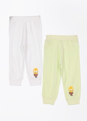 Day 2 Day Solid Baby Boy's White, Light Green Track Pants