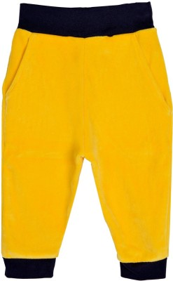 Lil Orchids Solid Girls Yellow Track Pants