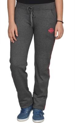 Fashion Club Solid Women's Grey Track Pants