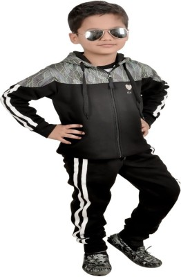 GLANZ COMFORT WEAR Solid Boys Track Suit