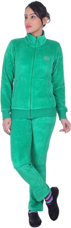 Vivid Bharti Solid Women's Track Suit