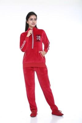 Meei Solid Women's Track Suit