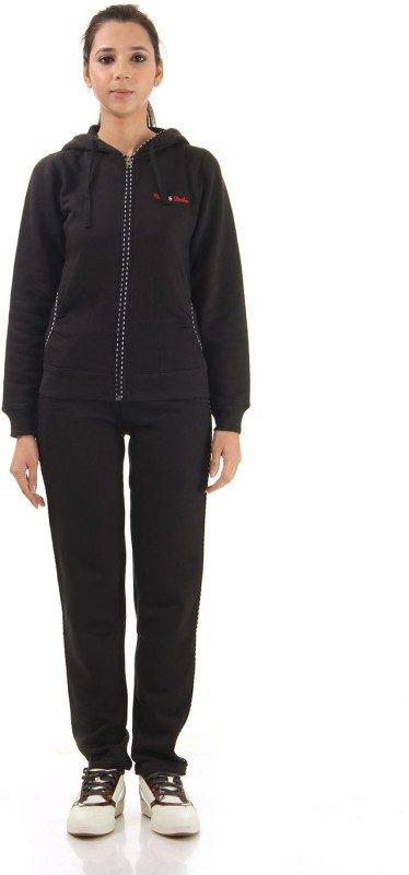Cloak & Decker Solid Women's Track Suit