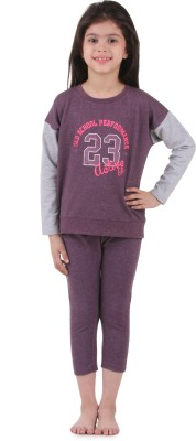 Kids Village Printed Girl's Track Suit