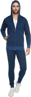 Campus Sutra Solid Mens Track Suit