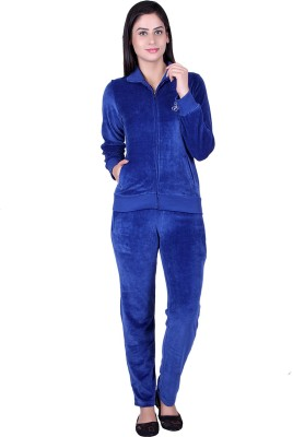 Raves Velour Track Suit Solid Women,s Track Suit