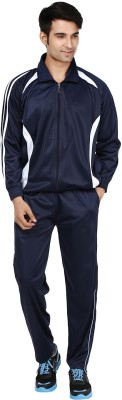 Ico Blue Star Solid Men's Track Suit
