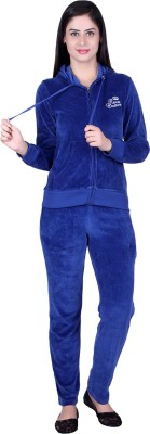 Raves Velour Track Suit Solid Women's Track Suit