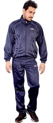 Kabeer Blue Striped Men's Track Suit