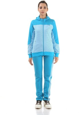 Monte Carlo Striped, Solid Women's Track Suit