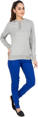 Campus Sutra Solid Womens Track Suit