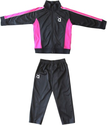 Anthill Solid Girl's Track Suit