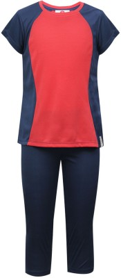 The Cranberry Club Gymberry Solid Girl's Track Suit