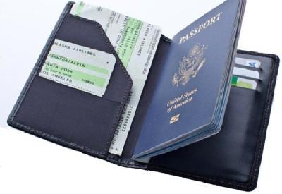 sangaitap Stylish Travel Wallet Passport Holder & Organizer Compact Slim Zipper