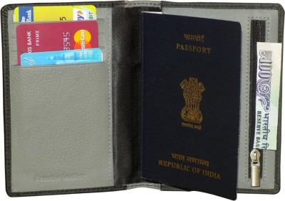 Kan Premium Quality Travel Passport Cover cum Passport Holder with Currency Holder
