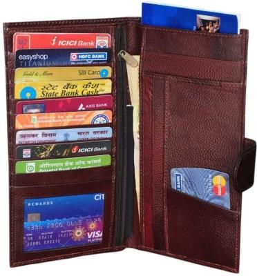 Modish Unisex Document holder / Cheque Book Holder / Money Wallet Purse - Brown