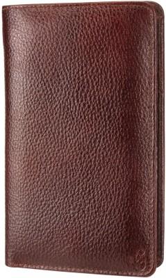 Contrast Mini Document Holder( Passport Holder) in Genuine Brown Leather for Men