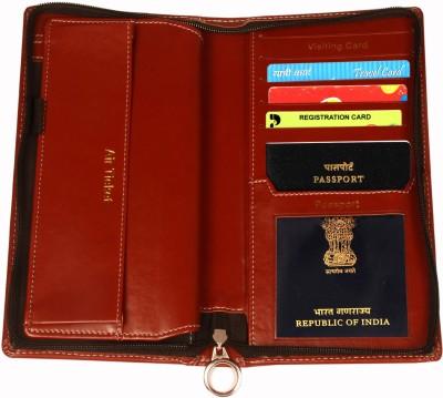 Sukeshcraft Travel Wallet(Cherry)