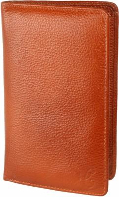 Contrast Mini Document Holder( Passport Holder) in Genuine Leather Tan Color for Men