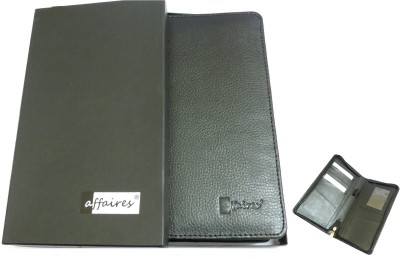 Affaires Passport Holder / Travel Wallet With Pen Holder - Security Zipper Comfortably Holds Passport, Credit Cards,W-40081