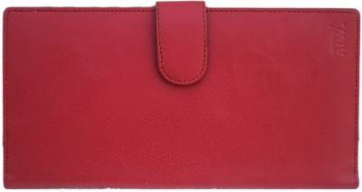 Modish Unisex Long Cheque Book/Document Holder - Red