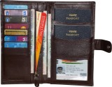 Kan Brown Genuine Leather Travel Documen...