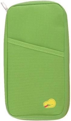 Packnbuy Long Travel Passport Organizer Wallet with Zip(Green)