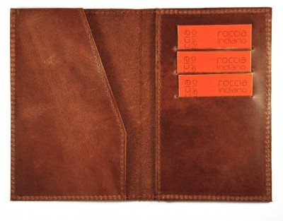 Roccia Indiano Handcrafted Document organizer Passport and card Holder plus Minimal wallet