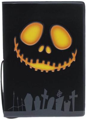 Tootpado Halloween Pumpkin Horror Portable Foldin Passport Cover Card Holder