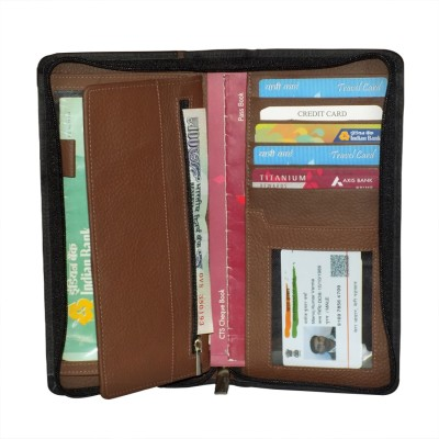 Kan Premium Quality Travel Passport Cover,Chequebook Holder and Travel Document Holder for 3 Passports