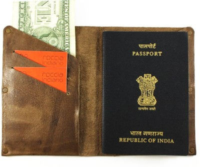 Rocciaindiano Passport And Card Holder For Travellers